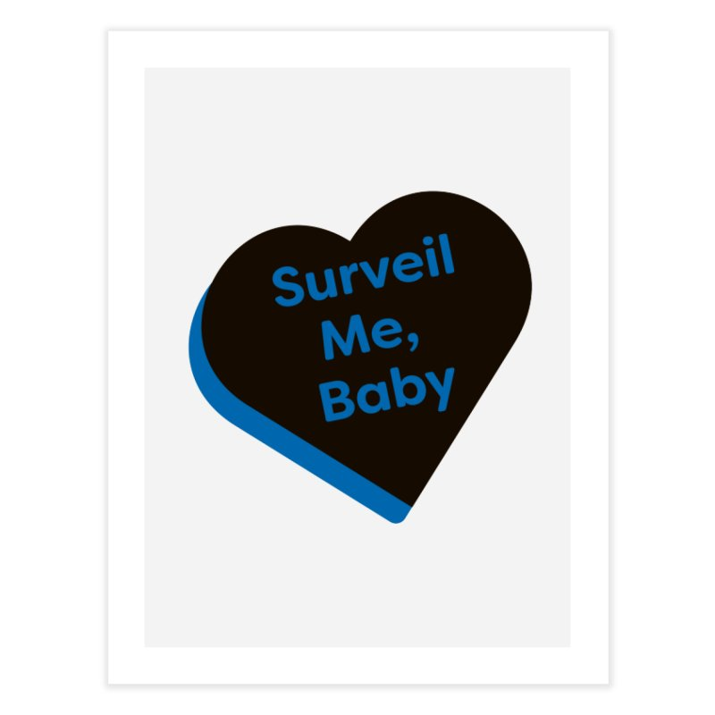Surveil Me, Baby (Magic the Gathering Valentine - Dimir) Home Fine Art Print by The Schwaggering