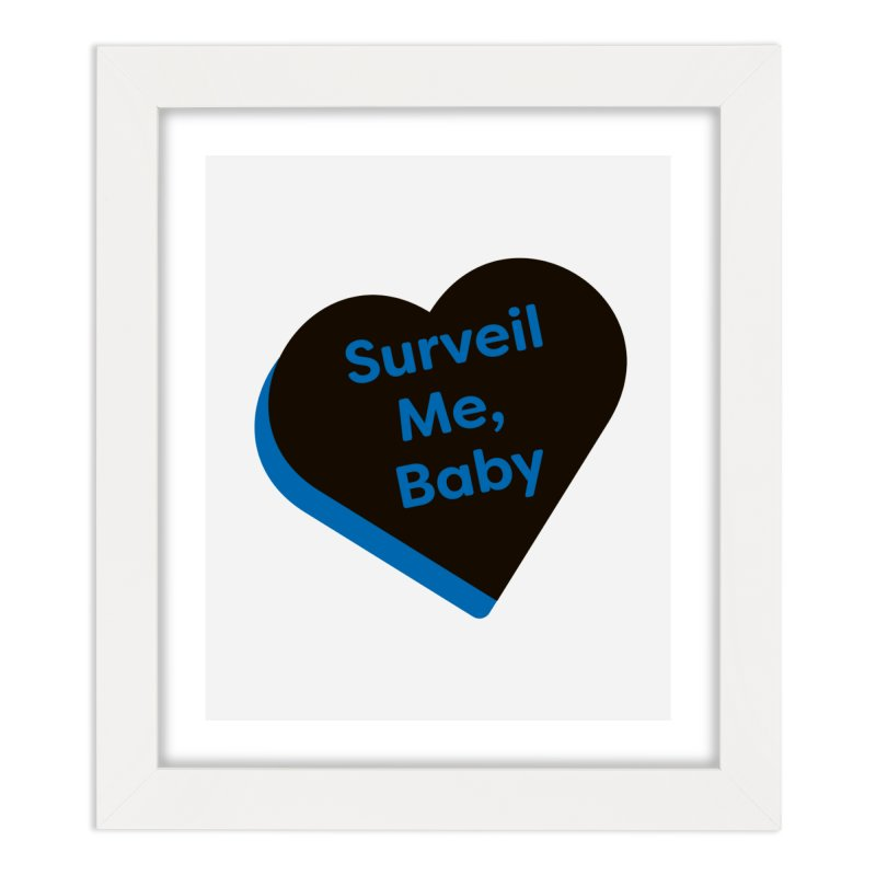 Surveil Me, Baby (Magic the Gathering Valentine - Dimir) Home Framed Fine Art Print by The Schwaggering