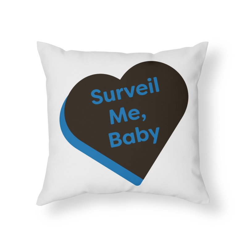 Surveil Me, Baby (Magic the Gathering Valentine - Dimir) Home Throw Pillow by The Schwaggering