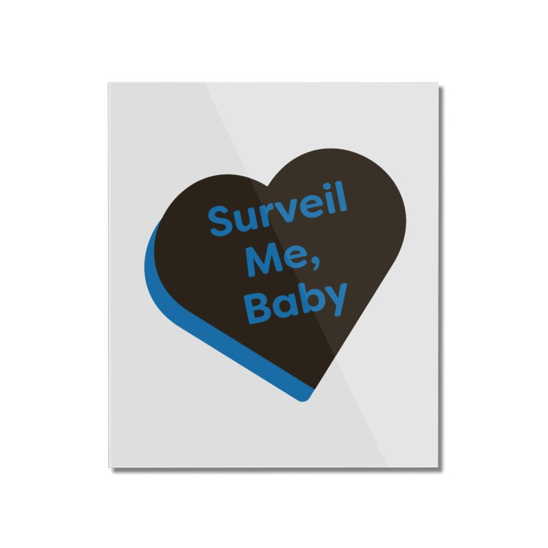 Surveil Me, Baby (Magic the Gathering Valentine - Dimir) Home Mounted Acrylic Print by The Schwaggering