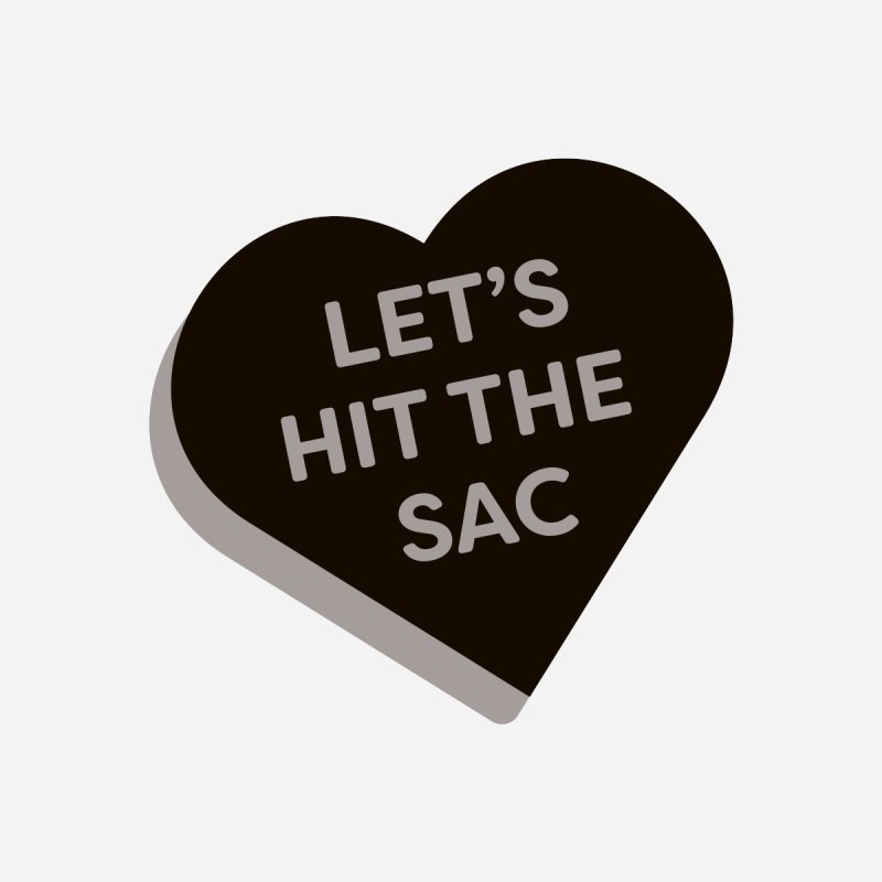Let's Hit the Sac (Magic the Gathering Valentine - Black Sacrifice) Men's T-Shirt by The Schwaggering