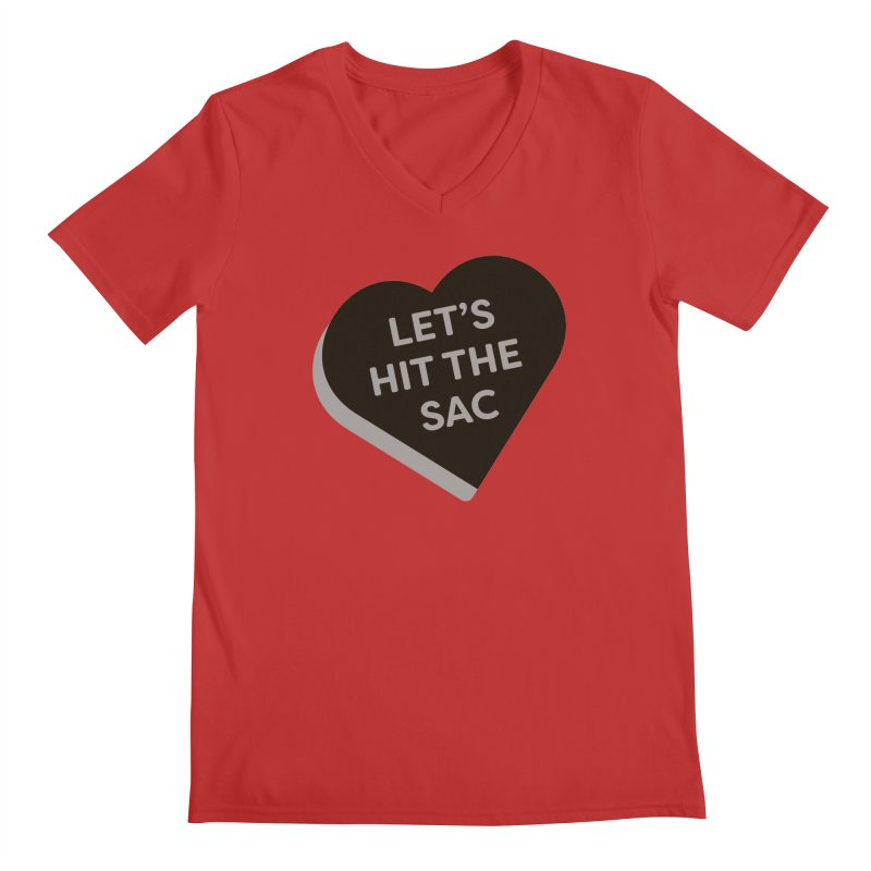 Let's Hit the Sac (Magic the Gathering Valentine - Black Sacrifice) Men's V-Neck by The Schwaggering