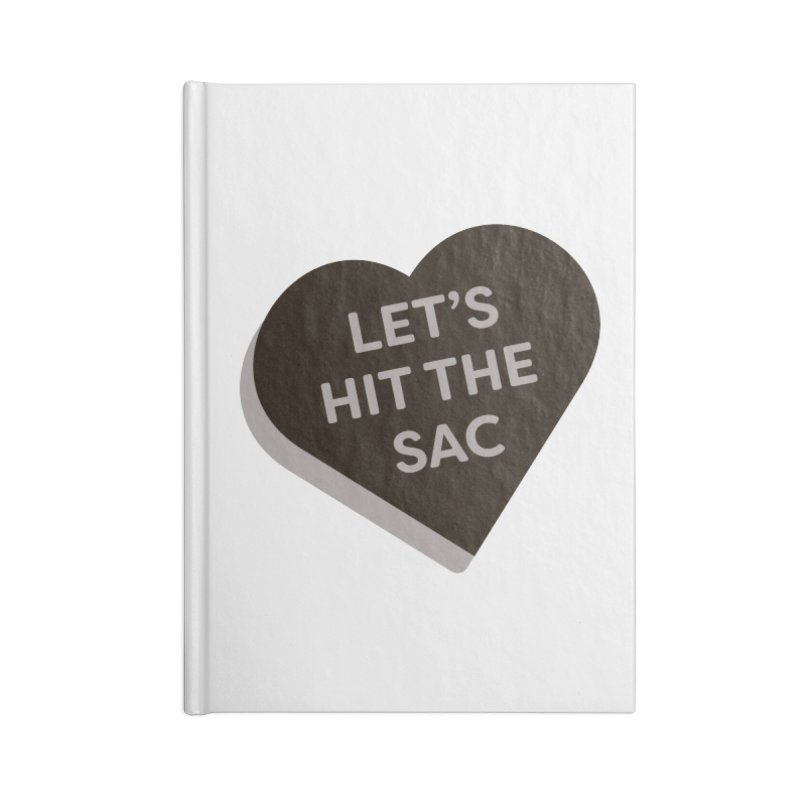 Let's Hit the Sac (Magic the Gathering Valentine - Black Sacrifice) Accessories Notebook by The Schwaggering