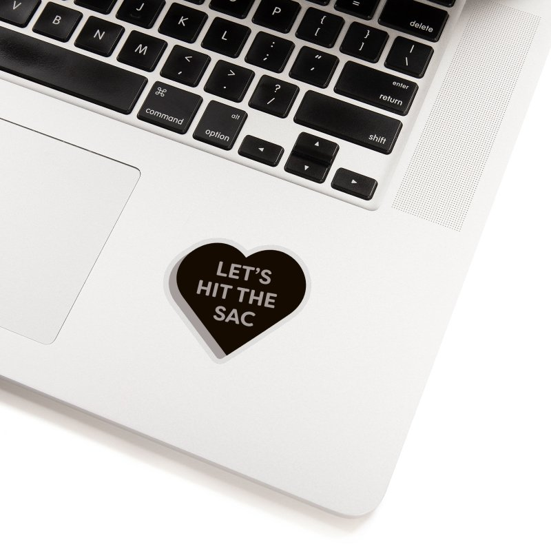 Let's Hit the Sac (Magic the Gathering Valentine - Black Sacrifice) Accessories Sticker by The Schwaggering