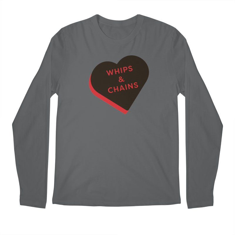 Whips & Chains (Magic the Gathering Valentine - Rakdos) Men's Longsleeve T-Shirt by The Schwaggering