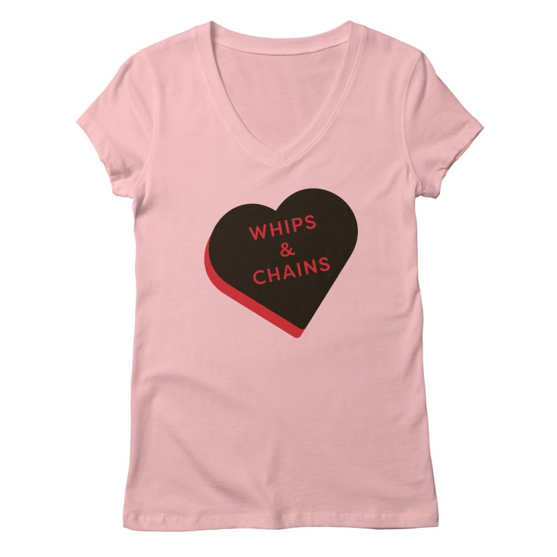 Whips & Chains (Magic the Gathering Valentine - Rakdos) Women's V-Neck by The Schwaggering