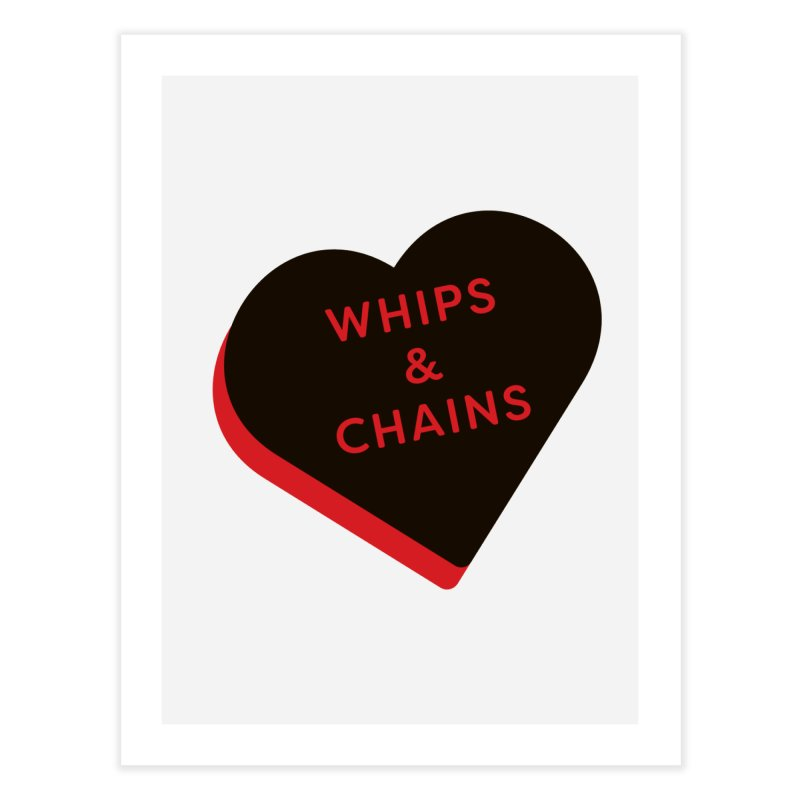 Whips & Chains (Magic the Gathering Valentine - Rakdos) Home Fine Art Print by The Schwaggering