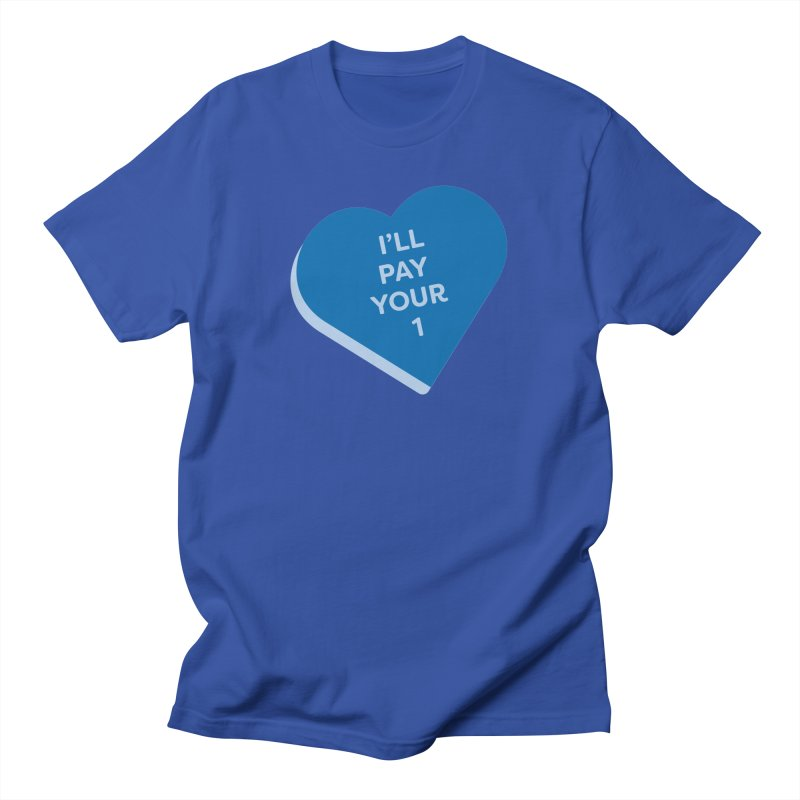 I'll Pay Your 1 (Magic the Gathering Valentine - Commander / Rhystic Study) Men's T-Shirt by The Schwaggering