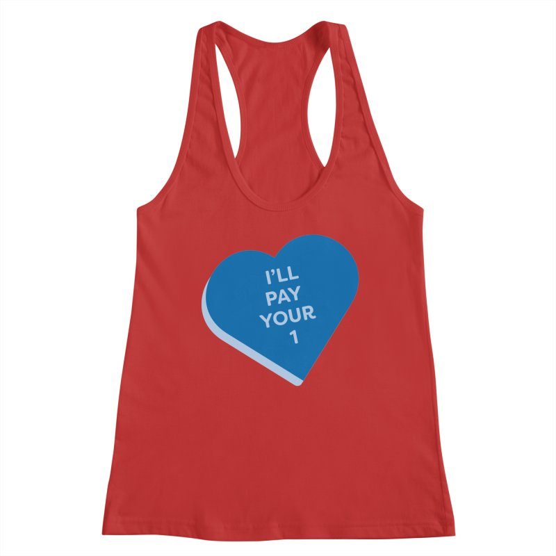 I'll Pay Your 1 (Magic the Gathering Valentine - Commander / Rhystic Study) Women's Tank by The Schwaggering