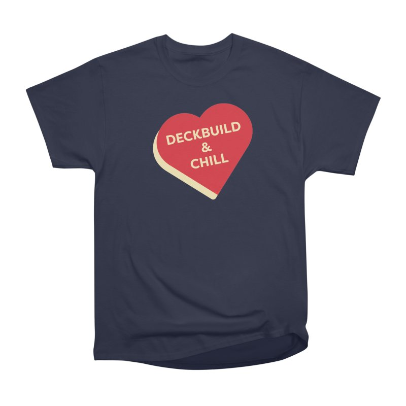 Deckbuild & Chill (Magic the Gathering Valentine) Men's T-Shirt by The Schwaggering