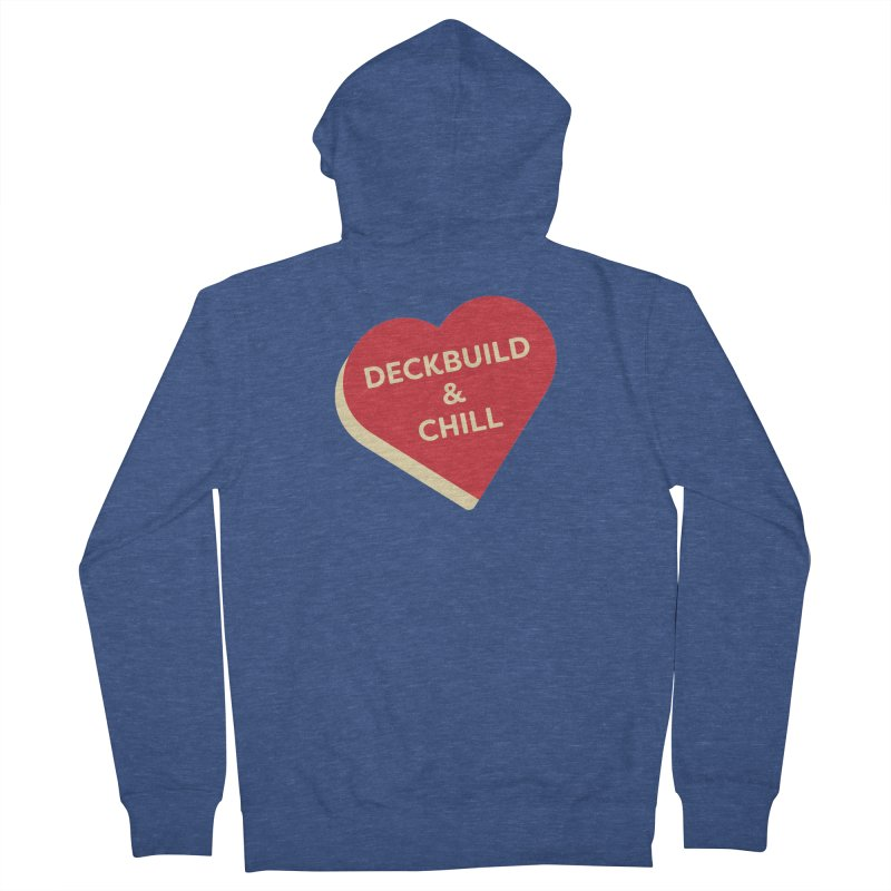 Deckbuild & Chill (Magic the Gathering Valentine) Men's Zip-Up Hoody by The Schwaggering