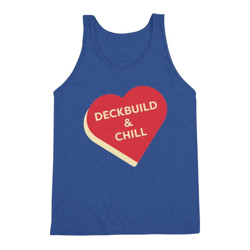 Deckbuild & Chill (Magic the Gathering Valentine) Men's Tank by The Schwaggering