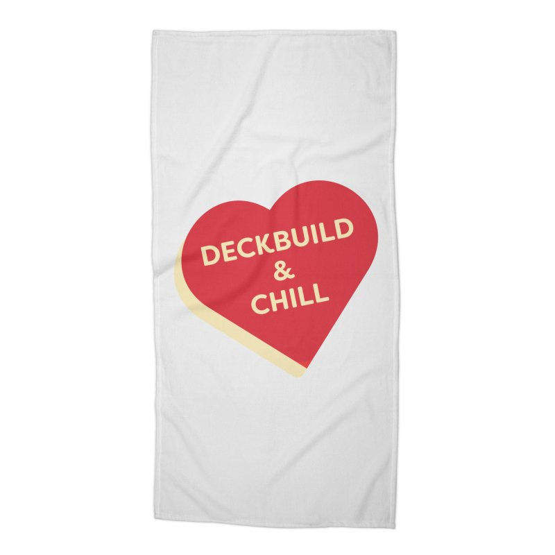 Deckbuild & Chill (Magic the Gathering Valentine) Accessories Beach Towel by The Schwaggering