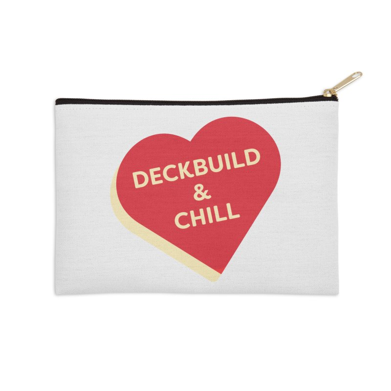 Deckbuild & Chill (Magic the Gathering Valentine) Accessories Zip Pouch by The Schwaggering
