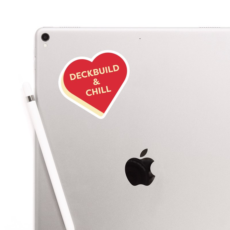 Deckbuild & Chill (Magic the Gathering Valentine) Accessories Sticker by The Schwaggering