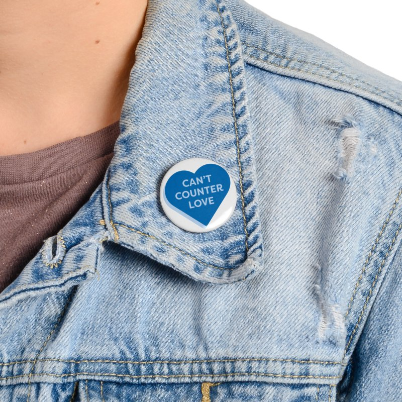 Can't Counter Love (Magic the Gathering Valentine) Accessories Button by The Schwaggering