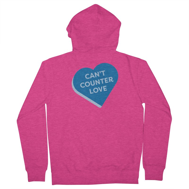 Can't Counter Love (Magic the Gathering Valentine) Women's Zip-Up Hoody by The Schwaggering