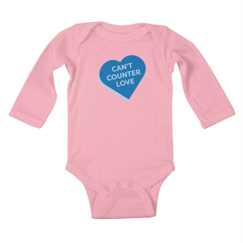 Can't Counter Love (Magic the Gathering Valentine) Kids Baby Longsleeve Bodysuit by The Schwaggering
