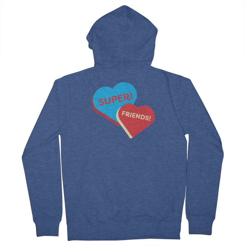 Super! Friends! (Magic the Gathering Valentine - Superfriends Commander) Men's Zip-Up Hoody by The Schwaggering