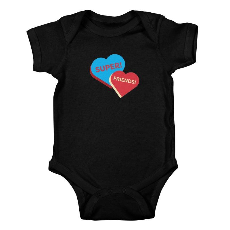 Super! Friends! (Magic the Gathering Valentine - Superfriends Commander) Kids Baby Bodysuit by The Schwaggering
