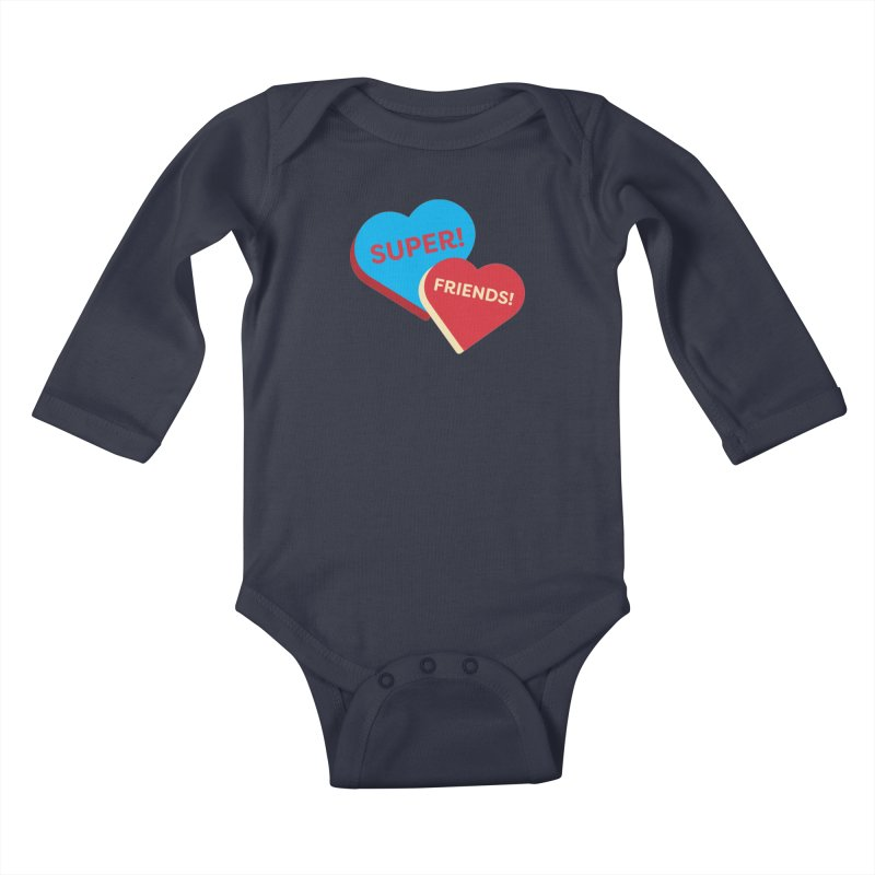 Super! Friends! (Magic the Gathering Valentine - Superfriends Commander) Kids Baby Longsleeve Bodysuit by The Schwaggering