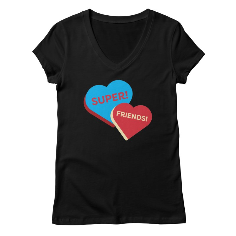 Super! Friends! (Magic the Gathering Valentine - Superfriends Commander) Women's V-Neck by The Schwaggering