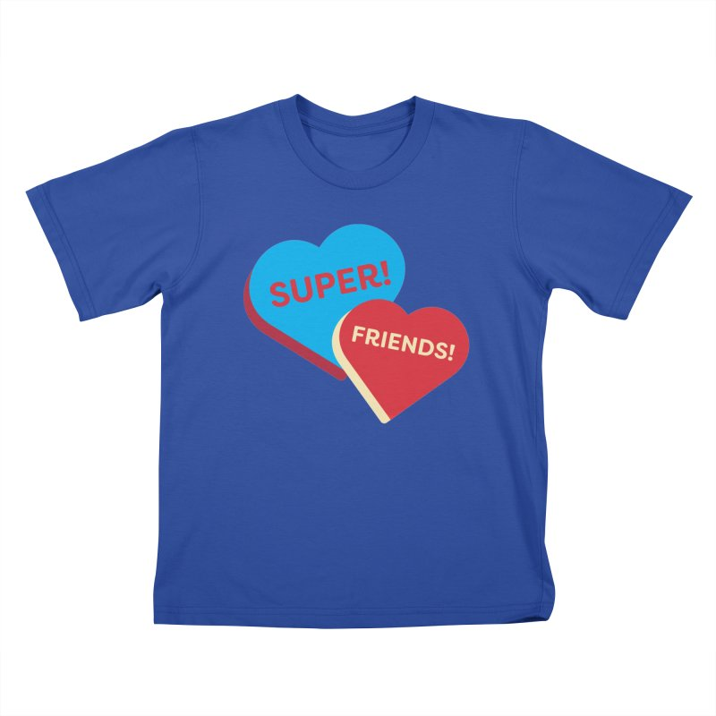 Super! Friends! (Magic the Gathering Valentine - Superfriends Commander) Kids T-Shirt by The Schwaggering
