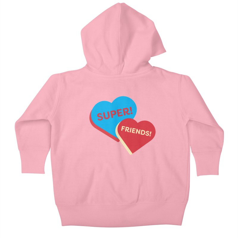 Super! Friends! (Magic the Gathering Valentine - Superfriends Commander) Kids Baby Zip-Up Hoody by The Schwaggering