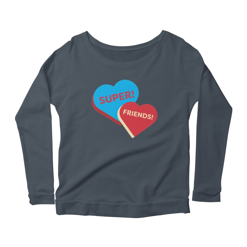 Super! Friends! (Magic the Gathering Valentine - Superfriends Commander) Women's Longsleeve T-Shirt by The Schwaggering