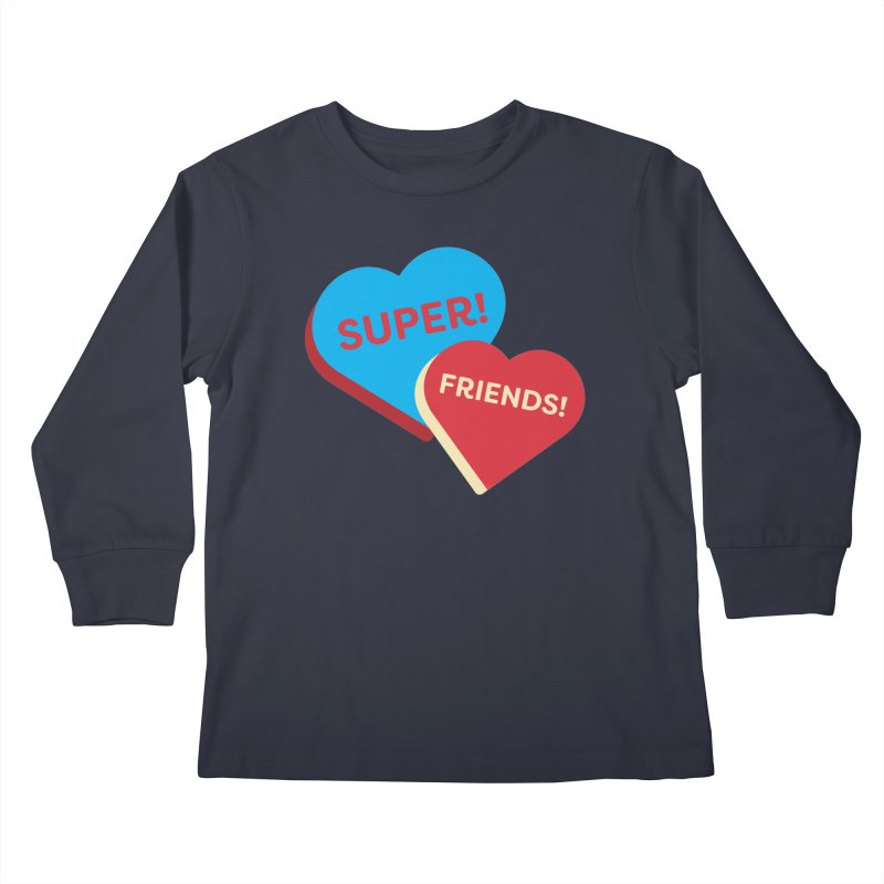 Super! Friends! (Magic the Gathering Valentine - Superfriends Commander) Kids Longsleeve T-Shirt by The Schwaggering