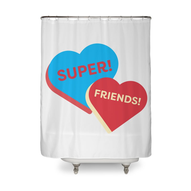 Super! Friends! (Magic the Gathering Valentine - Superfriends Commander) Home Shower Curtain by The Schwaggering