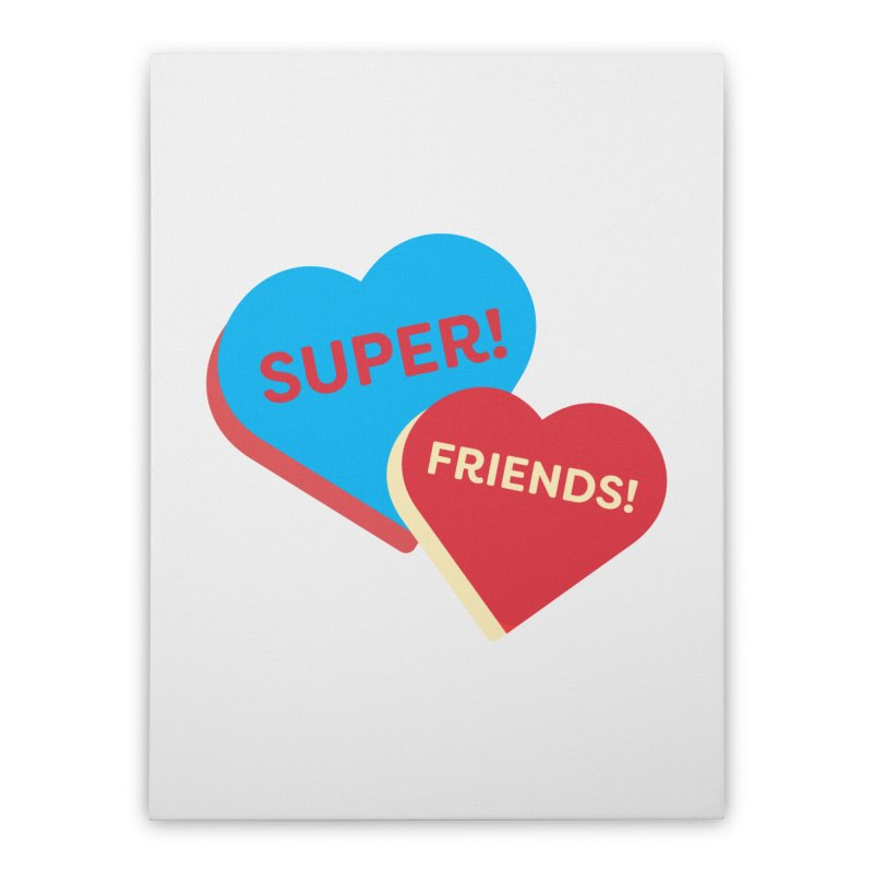 Super! Friends! (Magic the Gathering Valentine - Superfriends Commander) Home Stretched Canvas by The Schwaggering