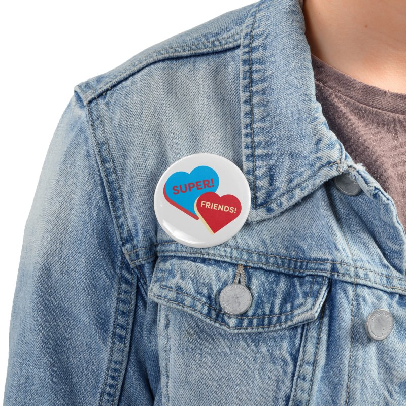 Super! Friends! (Magic the Gathering Valentine - Superfriends Commander) Accessories Button by The Schwaggering