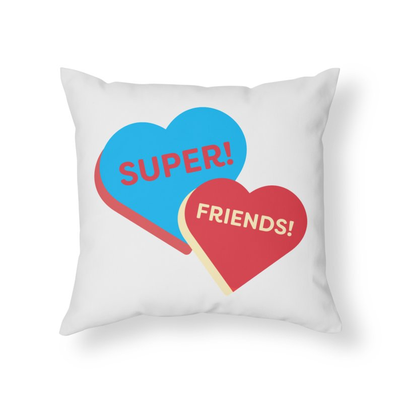 Super! Friends! (Magic the Gathering Valentine - Superfriends Commander) Home Throw Pillow by The Schwaggering