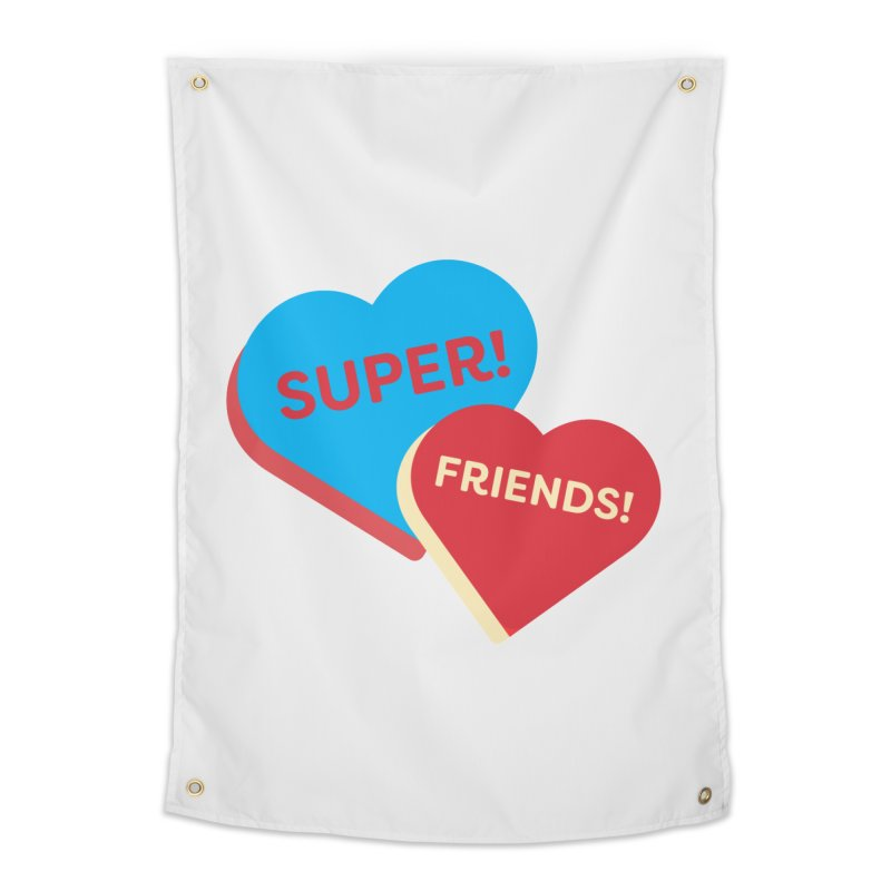 Super! Friends! (Magic the Gathering Valentine - Superfriends Commander) Home Tapestry by The Schwaggering