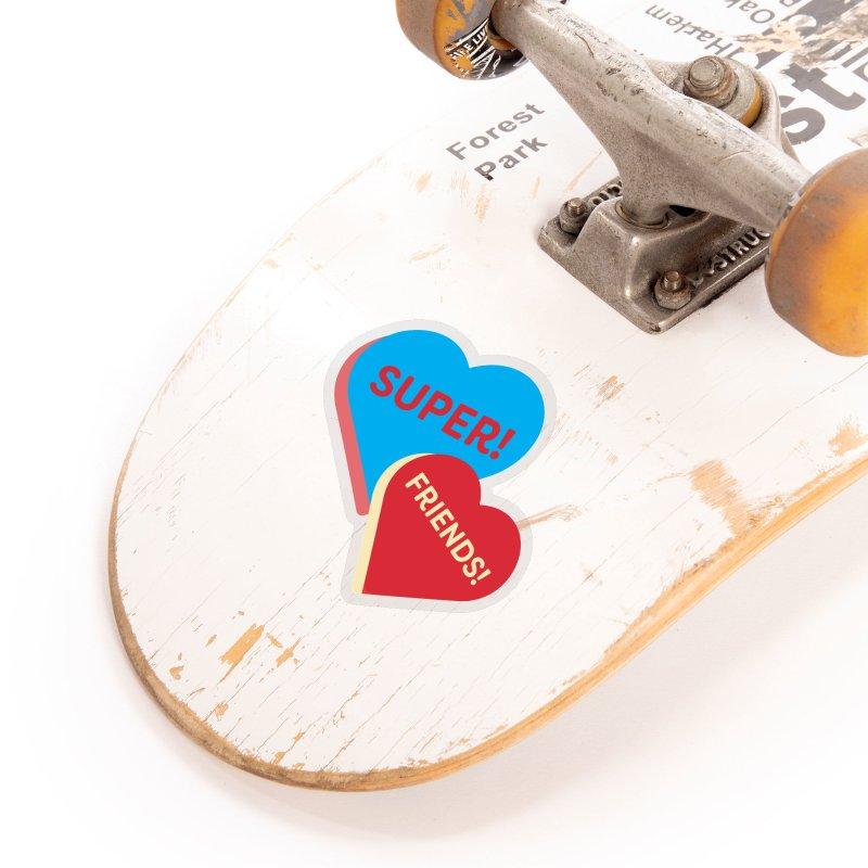 Super! Friends! (Magic the Gathering Valentine - Superfriends Commander) Accessories Sticker by The Schwaggering