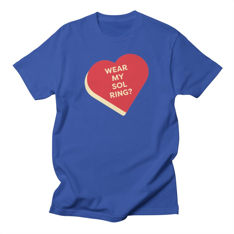 Wear my Sol Ring? (Magic the Gathering Valentine - Sol Ring Commander) Men's T-Shirt by The Schwaggering