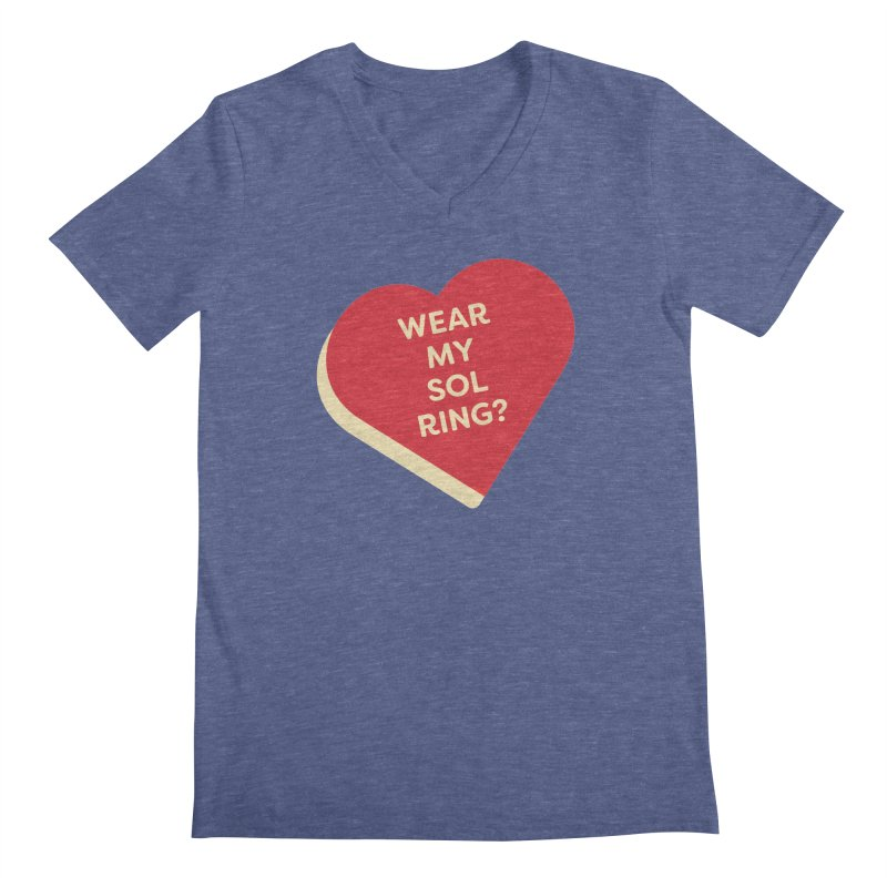 Wear my Sol Ring? (Magic the Gathering Valentine - Sol Ring Commander) Men's V-Neck by The Schwaggering