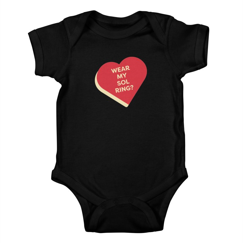 Wear my Sol Ring? (Magic the Gathering Valentine - Sol Ring Commander) Kids Baby Bodysuit by The Schwaggering