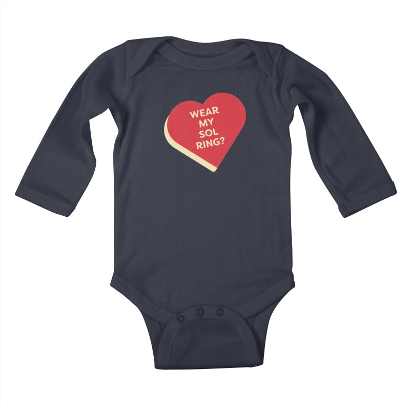 Wear my Sol Ring? (Magic the Gathering Valentine - Sol Ring Commander) Kids Baby Longsleeve Bodysuit by The Schwaggering