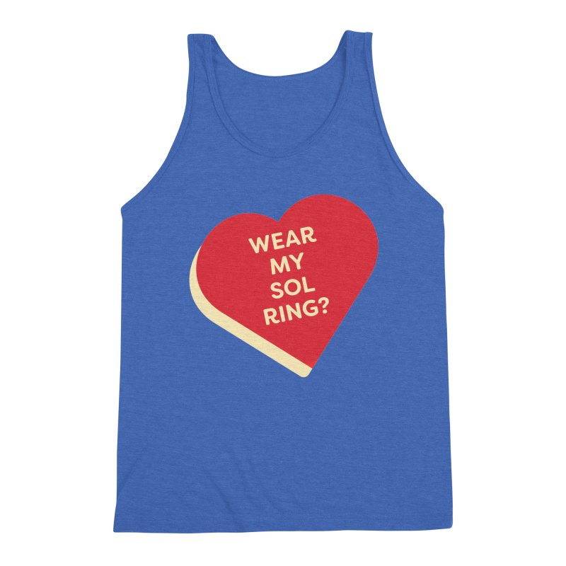 Wear my Sol Ring? (Magic the Gathering Valentine - Sol Ring Commander) Men's Tank by The Schwaggering
