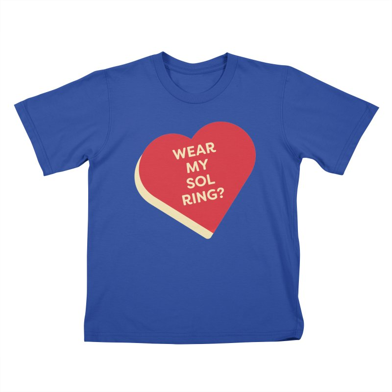 Wear my Sol Ring? (Magic the Gathering Valentine - Sol Ring Commander) Kids T-Shirt by The Schwaggering