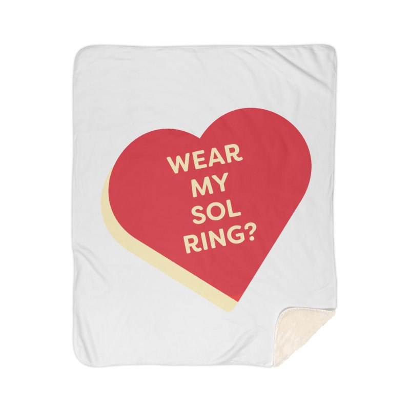 Wear my Sol Ring? (Magic the Gathering Valentine - Sol Ring Commander) Home Blanket by The Schwaggering