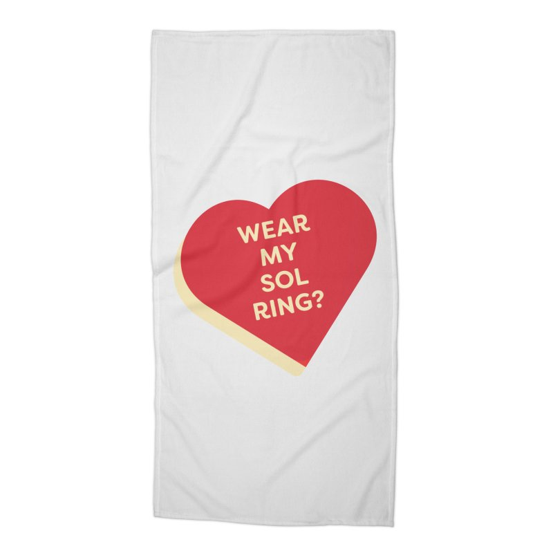 Wear my Sol Ring? (Magic the Gathering Valentine - Sol Ring Commander) Accessories Beach Towel by The Schwaggering