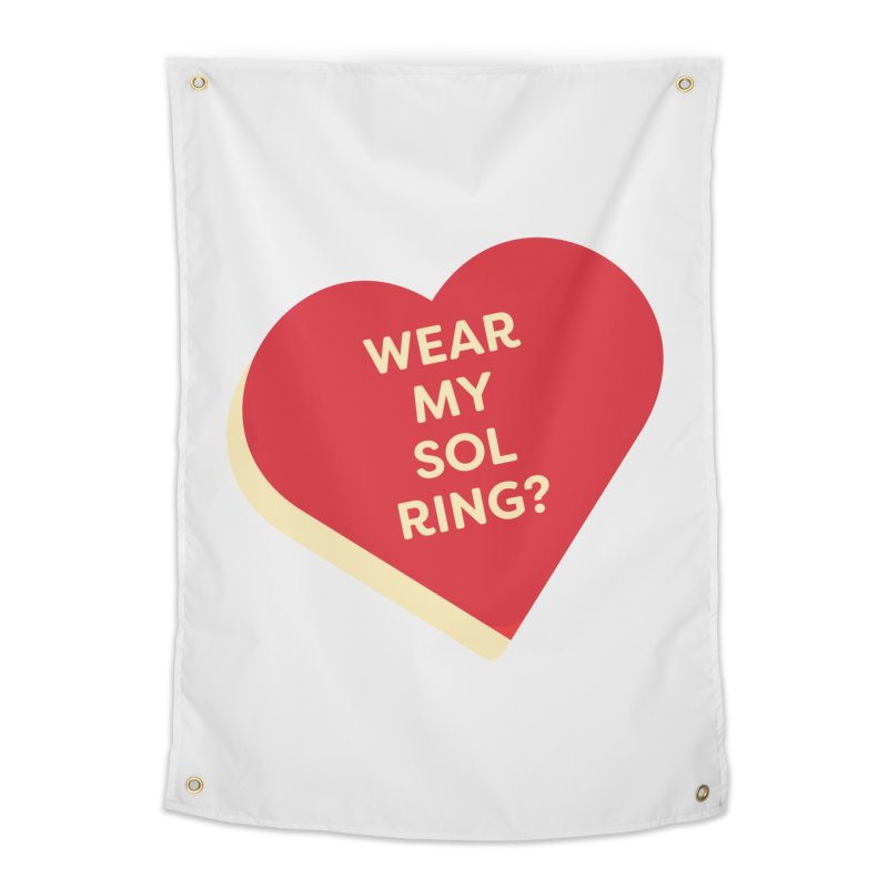 Wear my Sol Ring? (Magic the Gathering Valentine - Sol Ring Commander) Home Tapestry by The Schwaggering