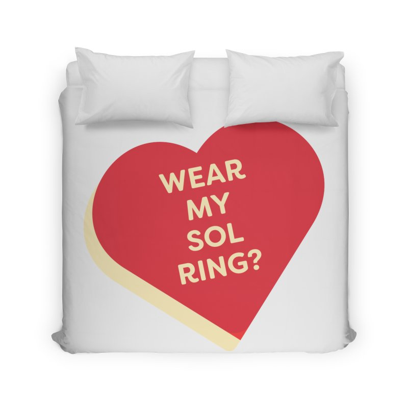 Wear my Sol Ring? (Magic the Gathering Valentine - Sol Ring Commander) Home Duvet by The Schwaggering