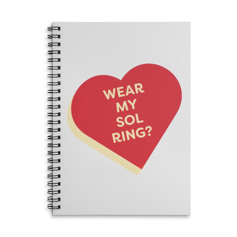 Wear my Sol Ring? (Magic the Gathering Valentine - Sol Ring Commander) Accessories Notebook by The Schwaggering