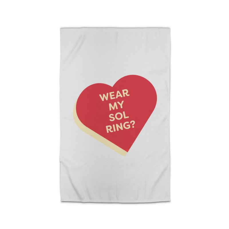 Wear my Sol Ring? (Magic the Gathering Valentine - Sol Ring Commander) Home Rug by The Schwaggering