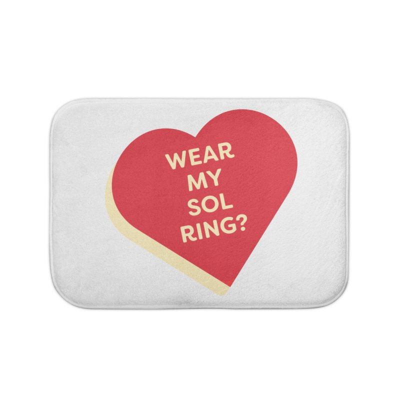 Wear my Sol Ring? (Magic the Gathering Valentine - Sol Ring Commander) Home Bath Mat by The Schwaggering