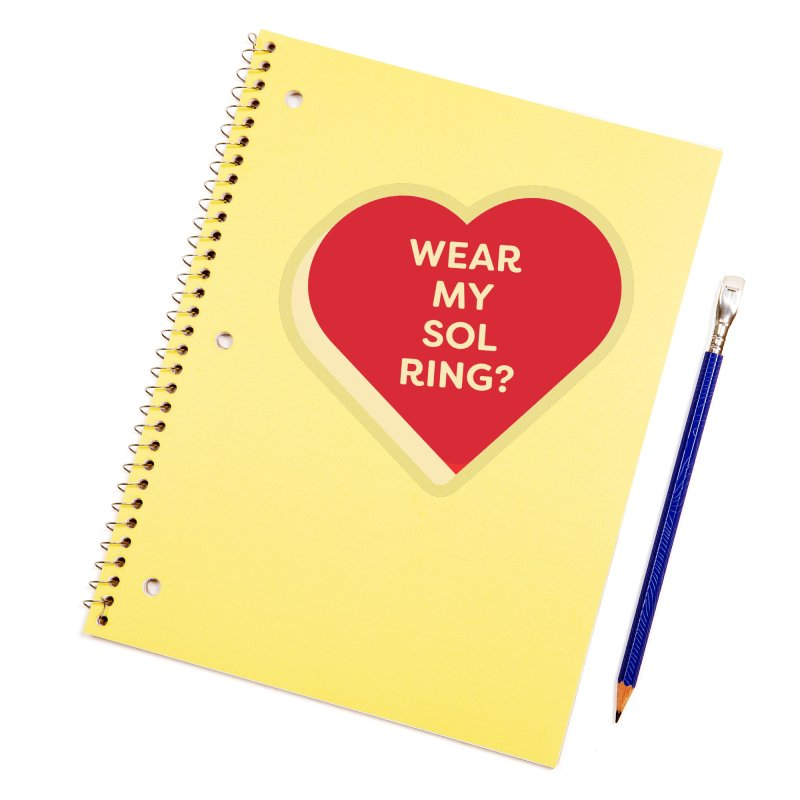 Wear my Sol Ring? (Magic the Gathering Valentine - Sol Ring Commander) Accessories Sticker by The Schwaggering